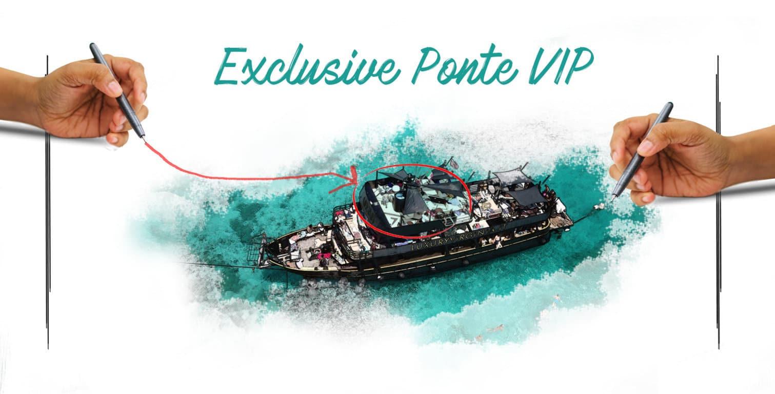 Prenota la tua escursione in barca sull\' Exclusive Ponte VIP